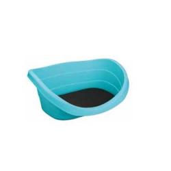 Berceau en plastique avec coussin pour chien (1)