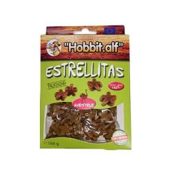 Snacks étoiles d'autruche 100 gr pour chien (1)