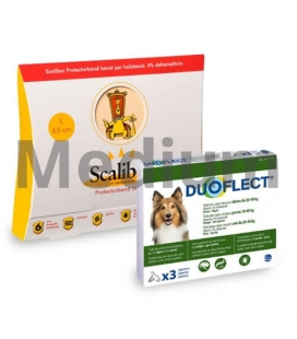Pack Antiparasite Annuel BASIC DUOFLECT pour Chien Moyenne (1)