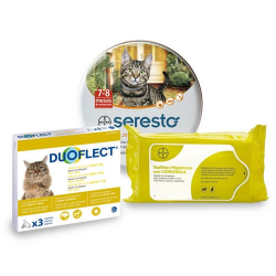 Pack Antiparasite Annuel DUOFLECT pour Chat (1)