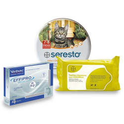 Pack Antiparasite Annuel EFFIPRO pour Chat (1)