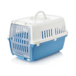 Cage de transport Zephos pour Chien et/ou Chat Couleur Bleu (1)