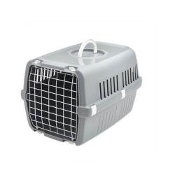 Cage de transport Zephos pour Chien et/ou Chat Couleur Gris (1)