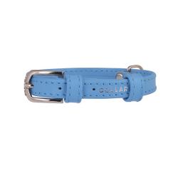 Collier Glamour en Pelle Bleu pour Chien (6)