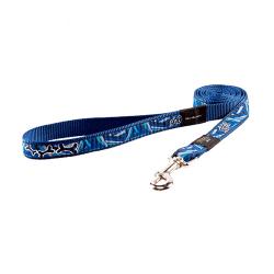 Laisse Nylon Tissu Imprimé Couleur Bleu pour Chien (1)