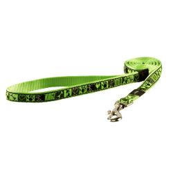 Laisse Nylon Tissu Imprimé Couleur Vert Lime pour Chien