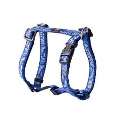 Rogz-Harnais Nylon Tissu Imprimé Couleur Bleu pour Chien (1)