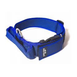 Julius K-9-Collier avec Poignée Bleu pour Chien (1)