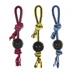 Balle Twist Prickly Ball Couleurs Asorties pour Chien