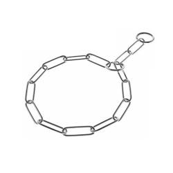 Collier Etranglement Chrome Sauvepelage pour Chien