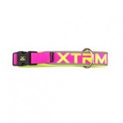 collier X_TRM nylon pour chien, couleur rose néon (1)