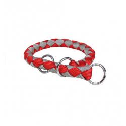 Collier Étrangleur Cavo rouge-argent pour chien (6)