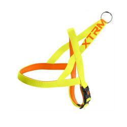 Harnais X-TRM nylon pour Chien jaune néon (1)