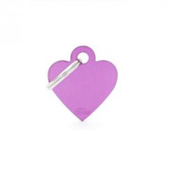 Heart Small Alluminum Purple (6)