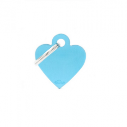 Heart Small Alluminum Light Blue (6)