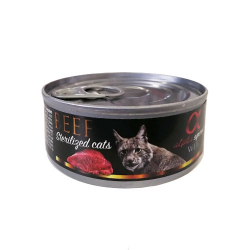Alpha Spirit-Feline Adult Sterilised Boeuf pour Chat 85 Gr Humide. (1)