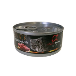 Alpha Spirit-Feline Adult Canard Sterilised 85 Gr Boîte (1)