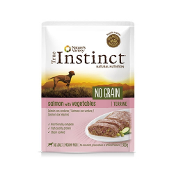 True Instinc No Grain Medium Saumon aux Légumes 300Gr Boîte (6)