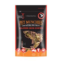 Snacks Naturels Saumon Skin Chews Medium pour Chien (4)