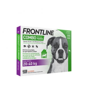 Frontline-Combo 20-40 kg Pipettes Antiparasitaires Chien (1)