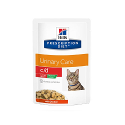 PD Feline c/d Urinary Stress Reduced Calorie Pouch 85 gr (6)