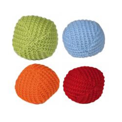 Pack 2 Balles Tricotées pour Chat Couleurs Variées (6)