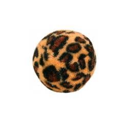 Pack 4 Balles Imprimé Léopard pour Chat (6)
