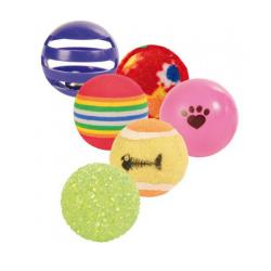 Pack 6 Balles Variées pour Chat (6)