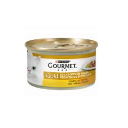 Morceaux en sauce au Poulet et Foie 85gr. (6)