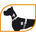 Arnes Agila Fantasy para perros Largo 42-50 Cms - Ancho 15mm Ferplast