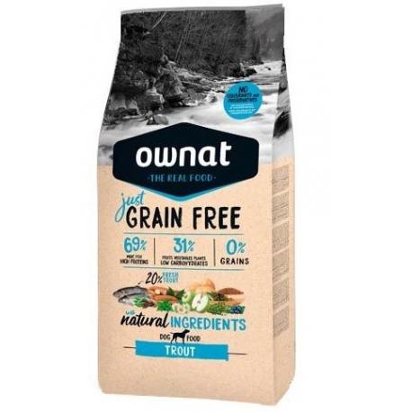 Ownat Just Grain Free Adult Trout Pour Chiens Adultes