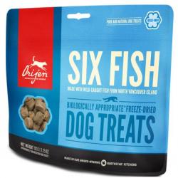 Orijen Six fish Dog Treats Snacks naturels pour chien 42,5gr