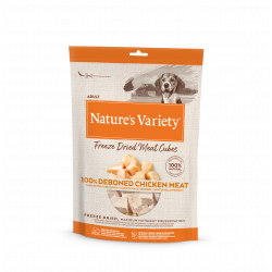 Nature's Variety Freeze Dried Meat Cubes Pollo Snacks para perros