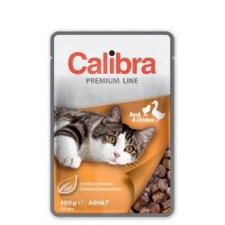 Calibra adult cat comida húmeda pouch pato pollo