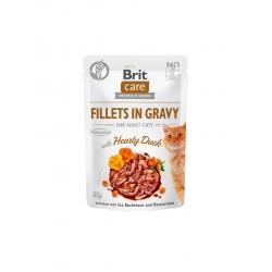 Brit care cat filetes en salsa con dados de pato latas para gato
