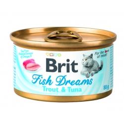 Brit care cat fish dreams algas mackerel latas para gato
