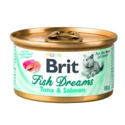 Brit care cat fish dreams atun salmon latas para gato