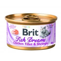 Brit care cat fish dreams filetes pollo y gambas latas para gato