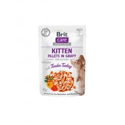 Brit care cat kitten filetes en salsa con pavo latas para gato