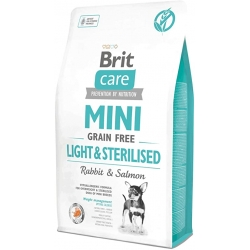 Brit care mini grain free light sterilised pienso para perros