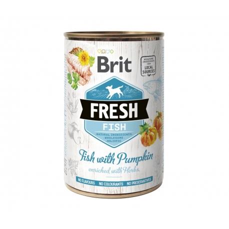 Brit fresh pescado calabaza latas para perro