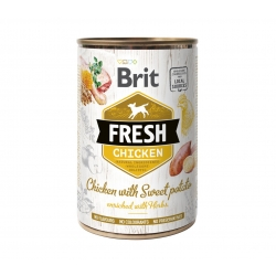 Brit fresh pollo con patata latas para perro