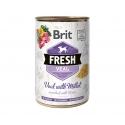 Brit fresh ternera mijo latas para perro