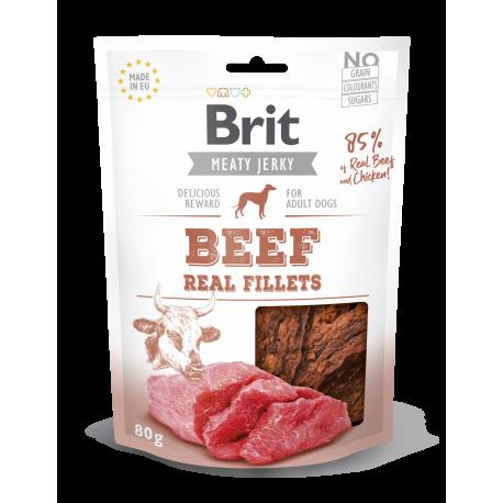 Brit jerky snack filetes de ternera premios para perro