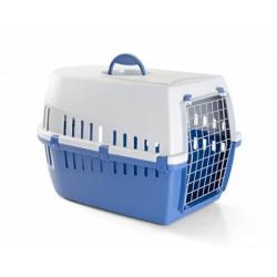 Cage de Transport Trotter pour Chien et/ou Chat Couleur Bleu (1)