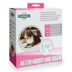Porte rabatable blanche infrarouge pour chien (1)