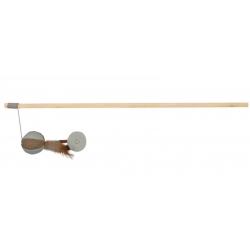 Bâton avec Jouet de jute et Plume pour Chat (1)
