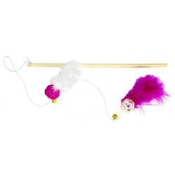Bâton avec Plumes et Balles pour Chat (1)