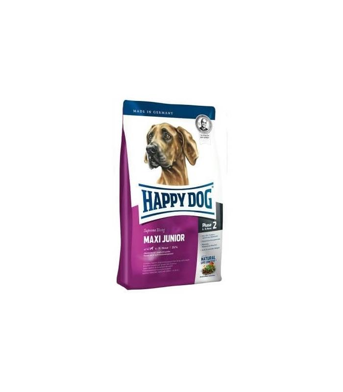 happy dog maxi junior chiots grandes races croquettes pour chiot. Black Bedroom Furniture Sets. Home Design Ideas